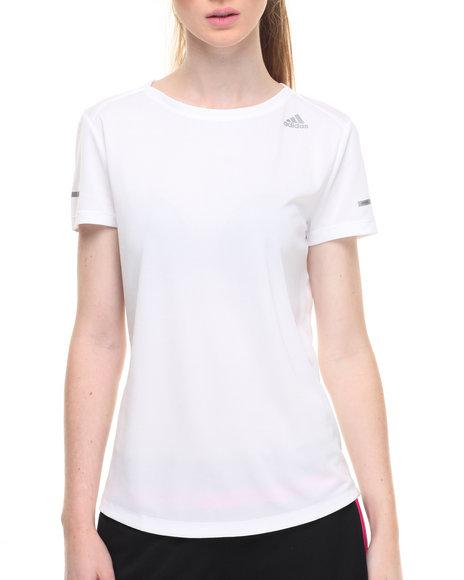 Adidas Women Run Tee White Small