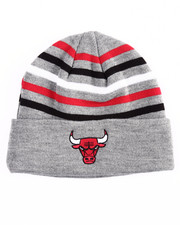 Mitchell & Ness - Chicago Bulls Team Stripes Cuffed Knit Beanie