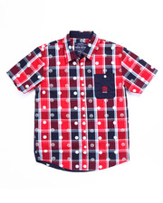 Button-downs - S/S DIP N' DOTS PLAID WOVEN (8-20)