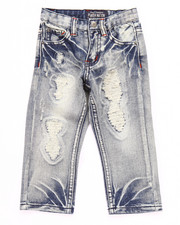 Bottoms - RIP N' TEAR BLEACHED JEANS (2T-4T)