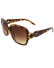 Women - Large Square Metal Chain Link Sunglasses