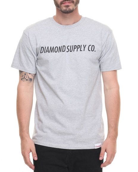 Diamond Supply Co Men Italic Tee Grey Medium