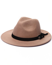 Men - LEATHER BAND FEDORA
