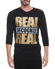 Men - Real Recognize Real Raglan Tee
