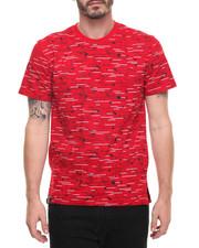 Men - Textured Print Tee - Red