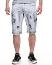 Men - Ice Wash Denim Short