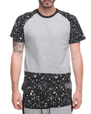T-Shirts - Paint Splatter Raglan Tee - Grey