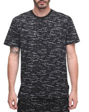 T-Shirts - Textured Print Tee - Black