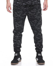 Buyers Picks - Textured Print Jogger - Black