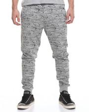 Jeans & Pants - Textured Print Jogger - H.Grey