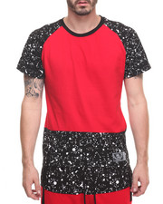 T-Shirts - Paint Splatter Raglan Tee - Red
