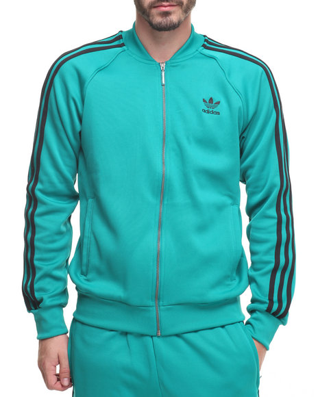 Adidas Men Superstar Track Jacket Green Small