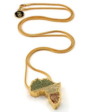 Accessories - Jungl Julz 14K Gold Rasta Africa Necklace