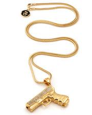 Jewelry & Watches - 18K Gold 9mm Handgun Necklace