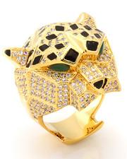 Accessories - 14K 3D Gold Leopard Ring
