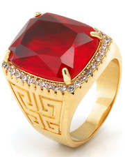 Jewelry & Watches - 14K Gold Ruby Crown Julz Ring