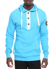 Men - 3 -BUTTON FITTED HOODIE