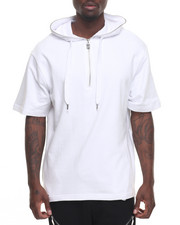 Hoodies - S/S Hoodie w side Zip Detail