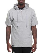 Buyers Picks - S/S Melange Hoodie w side Zip Detail