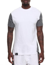 T-Shirts - Draw String Tee w Mesh Detail