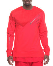 Men - Zippered Crewneck Sweatshirt