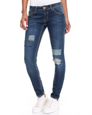 Women - Patchwork Destructed Skinny Jean