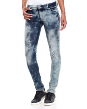 Women - Bling Pockets Destructed Skinny Jean
