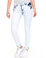 Women - Buttlifter Acid Wash Stretch Skinny Jean