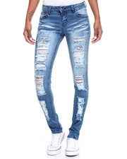 Fashion Lab - Rips Galore Stretch Skinny Jean