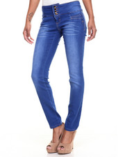 Jeans - Buttlifter 4-Button Stretch Skinny Jean