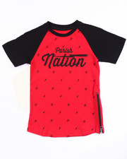 Tops - PARISH NATION ELONGATED TEE (4-7)
