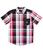 Button-downs - S/S PLAID WOVEN (8-20)