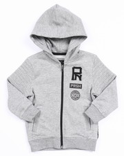 Hoodies - S/S FRENCH TERRY MELANGE YOUNG RIDERS HOODY (2T-4T)