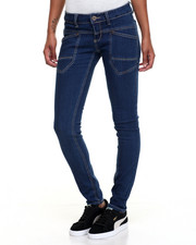 Women - Patch Pockets Split Seam Skinny Jean