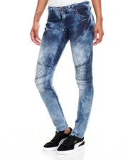Fashion Lab - Marble Wash Moto Skinny Jean