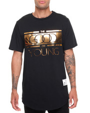T-Shirts - Good Die Young Zip Tee-GoldPlate