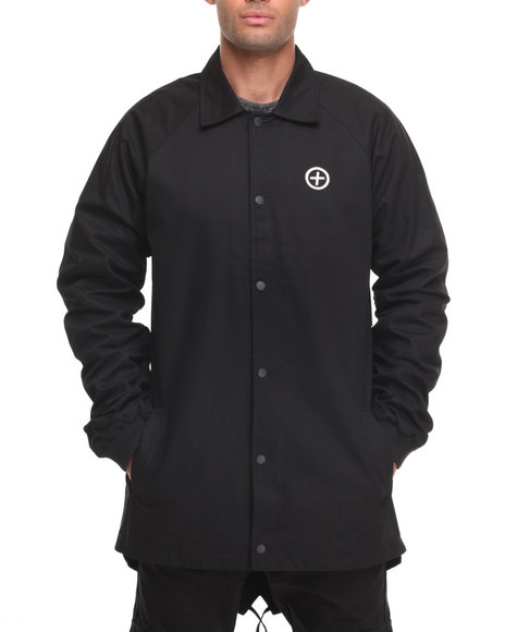 Pink Dolphin Men Fishtail Coaches Extended Trench Jacket Black X-Large