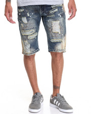 Buyers Picks - Bleached Denim Shorts W/ Stitch Detail