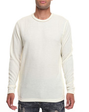 Men - HEAVY GAUZE REVERSE COLLAR L/S CREW