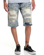 Buyers Picks - Distressed Paint Splatter Denim Short