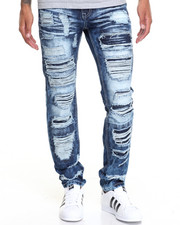 Jeans & Pants - Heavy Rip - Off Slim Denim Jeans