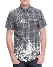 Button-downs - Splatter Plaid S/S Button-Down