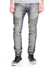 Jeans & Pants - Square Zero Monet Blue Biker Jean