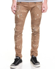 Jeans & Pants - Square Zero Canvas Splatter Moto Pant