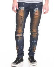 Men - Square Zero Mud Overdye Rip off Biker Jean