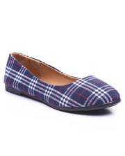 Flats - Navy Plaid Flat