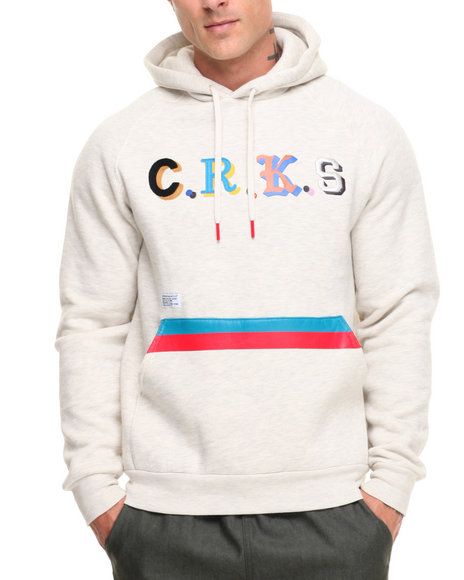 Crooks & Castles Men Maison Hooded Pullover Cream Large