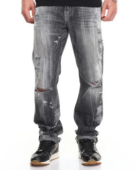 True Religion - Bleached Block Party Geno w Flap Jean