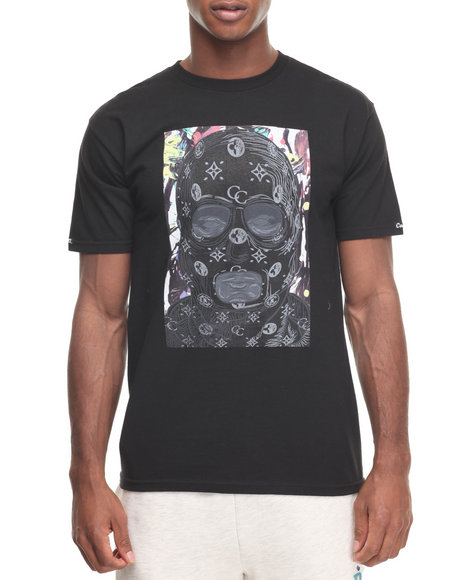 Crooks & Castles Men Abstract Bandit T-Shirt Black Large