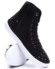 Fashion Lab - Grommet Trim High Top Sneaker